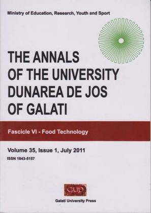 """Cover for The Annals of """"Dunarea de Jos"""" University of Galati. Fascicle VI,  Food Technology: No. (35)1, 2011"""