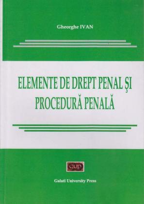 Cover for Elemente de drept penal și procedură penală