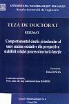 Cover for Comportamentul cinetic și molecular al unor enzime oxidative din perspectiva stabilirii relației proces-structură-funcție: teză de doctorat