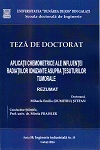 Cover for Conducerea optimală a sistemelor de fabricație  reconfigurabile: teză de doctorat