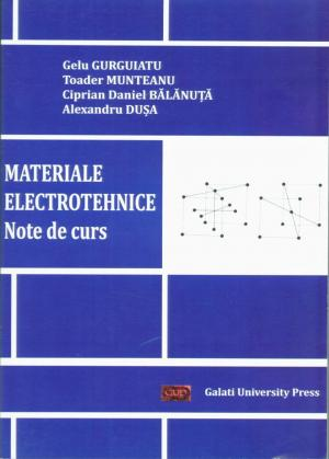 Cover for Materiale electrotehnice. Note de curs