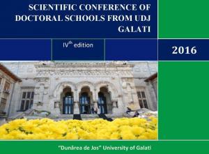 Cover for Școala doctorală - Programul conferinței