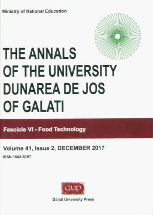 "Cover for The Annals of ""Dunarea de Jos"" University of Galati,  Food Technology"