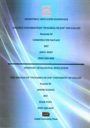 "Cover for The Annals of ""Dunarea de Jos"" University of Galati,  Construcții Navale"