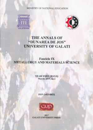 """Cover for The Annals of """"Dunarea de Jos"""" University of Galati,  Metallurgy and Materials Science"""