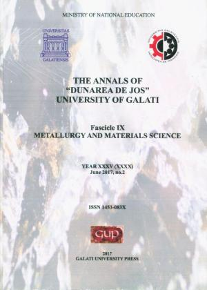 "Cover for The Annals of ""Dunarea de Jos"" University of Galati,  Metallurgy and materials science"