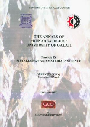 """Cover for The Annals of """"Dunarea de Jos"""" University of Galati.  Metallurgy and materials science"""