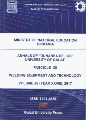 """Cover for The Annals of """"Dunarea de Jos"""" University of Galati,  Welding Equipment and Technology"""