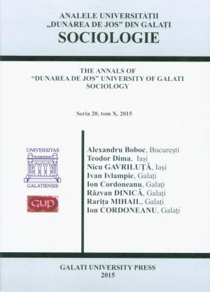 "Cover for The Annals of ""Dunarea de Jos"" University of Galati.  Sociology"