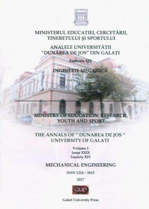 """Cover for The Annals of """"Dunarea de Jos"""" University of Galati.  Mechanical Engineering"""