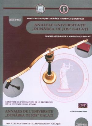"Cover for Annales de l'Université ""Dunărea de Jos"" de Galați, Droit et administration publique"