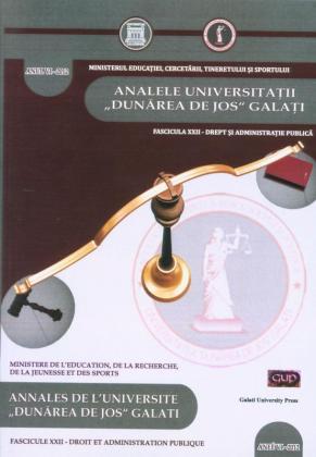 """Cover for Annales de l'Université """"Dunărea de Jos"""" de Galați, Droit et administration publique"""