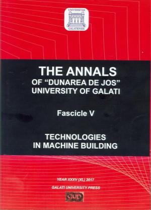 """Cover for The Annals of """"Dunarea de Jos"""" University of Galati.  Technologies in Machine Building"""