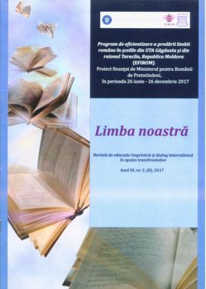 Cover for Revistă de educație lingvistică și dialog intercultural în spațiu transfrontalier. Limba noastră