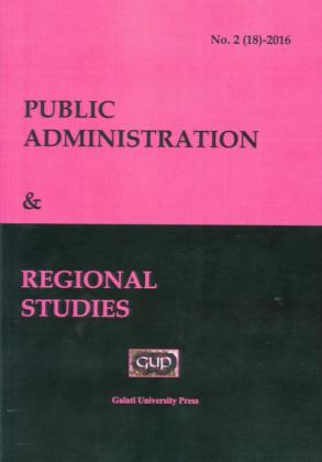 Cover for Public Administration and Regional Studies