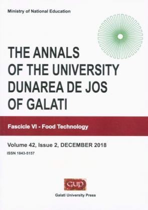 """Cover for The Annals of """"Dunarea de Jos"""" University of Galati.  Fascicle VI – Food Technology, Volume 42, Issue 2, December 2018"""