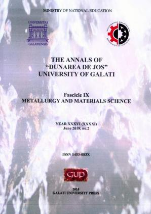 """Cover for The Annals of """"Dunarea de Jos"""" University of Galati. Fascicle IX – Metallurgy and Materials Science. No. 2, June 2018"""