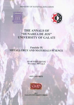 """Cover for The Annals of """"Dunarea de Jos"""" University of Galati,  Fascicle IX – Metallurgy and Materials Science. No. 4,  December 2017"""