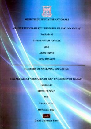"Cover for The Annals of ""Dunarea de Jos"" University of Galati.  Fascicle XI - Shipbuilding,  2018"