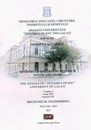 "Cover for The Annals of ""Dunarea de Jos"" University of Galati.  Fascicle XIV – Mechanical Engineering,  Vol. 2, Issue XXX, 2017"