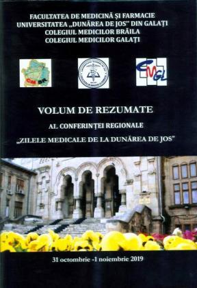 """Cover for Volum de rezumate al Conferinței regionale  """"Zilele medicale de la Dunărea de Jos"""",  31 octombrie – 1 noiembrie 2019"""