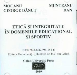 Cover for Etică și integritate în domeniile educațional și sportiv