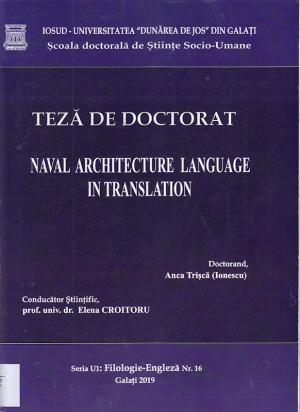 Cover for Limbajul arhitecturii navale în traducere: teză de doctorat