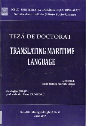 Cover for Limbajul maritim în traducere: teză de doctorat