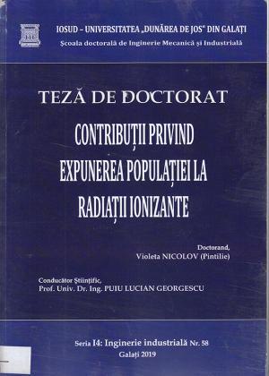 Cover for Contribuții privind expunerea populației la radiații ionizate: teză de doctorat