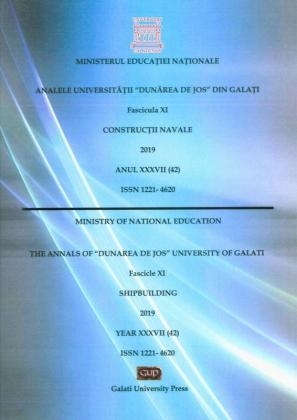 "Cover for The Annals of ""Dunarea de Jos"" University of Galati.  Fascicle XI - Shipbuilding,  2019"