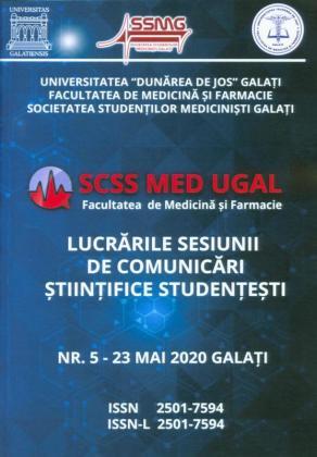 Cover for SCSS MED UGAL – Lucrările sesiunii de comunicări științifice studențești,  Nr. 5 - mai 2020, Galați