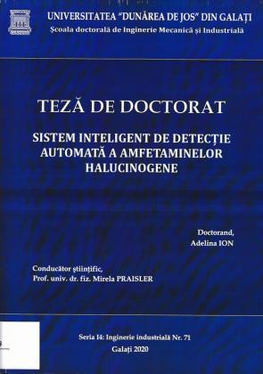 Cover for Sistem inteligent de detecție automată a amfetaminelor halucinogene: teză de doctorat