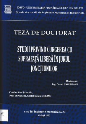 Cover for Studii privind curgerea cu suprafață liberă în jurul joncțiunilor: teză de doctorat